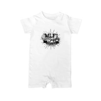 MLF@ SUPPLY-blackロゴ Baby rompers