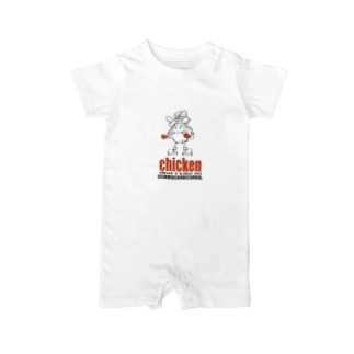 ourrockrecords@chicken Baby rompers