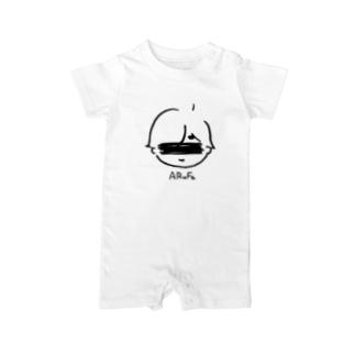 心がほっこりする育児マンガ風デザイン Baby rompers