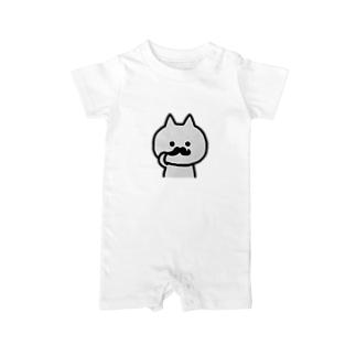 あしるのネコさん(ヒゲ) Baby rompers
