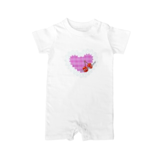 レース&ハート(Give me love) Baby rompers