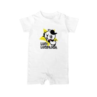 小悪魔パンダのLUCY Baby rompers