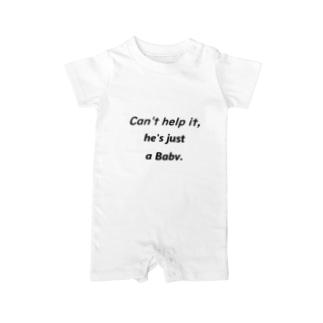 しょーがねーだろ 赤ちゃんなんだから Baby rompers