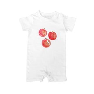 赤いりんご Baby rompers
