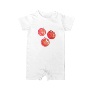 ayaの赤いりんご Baby rompers