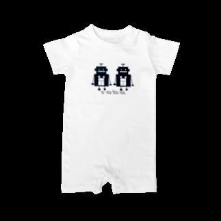 mashibuchiのくろロボットコンビ Baby rompers