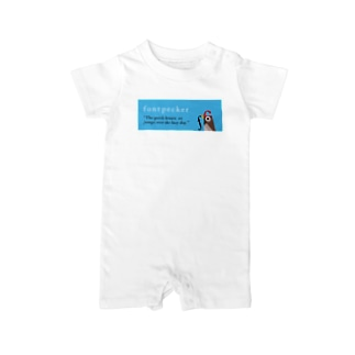 fontpecker Baby rompers