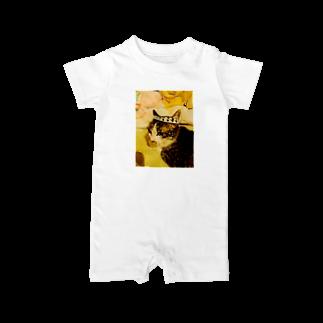 ponpokotoraのハチマキネコ Baby rompers