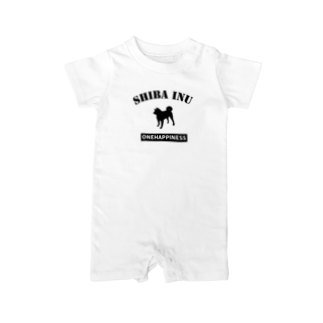 onehappinessの柴犬 Baby rompers