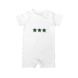 星のブロッコリー Baby rompers