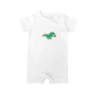 恐竜くん Baby rompers