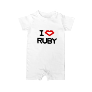 I Love RUBY Baby rompers