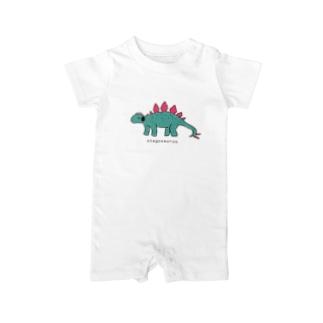 ノリノリステゴサウルス Baby rompers