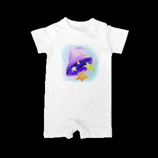 魚風商店の魔法の帽子 Baby rompers