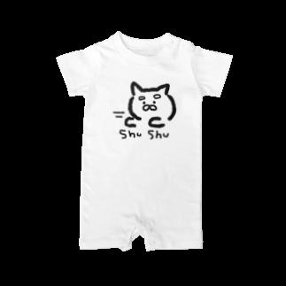 mayugechanのやる気のすごい猫 Baby rompers