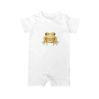 金のカエル Baby rompers