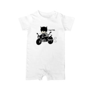 Little devil & motorbike Baby rompers