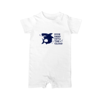DIVE DEEP blue Baby rompers
