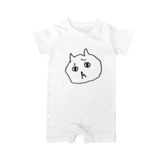 びみょうなネコ Baby rompers
