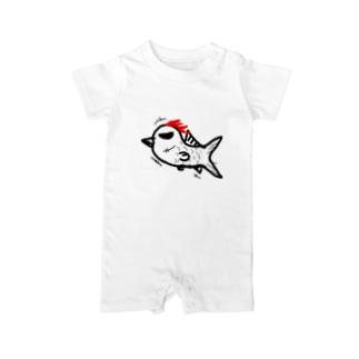 コケコッ魚(こけこっうお) Baby rompers