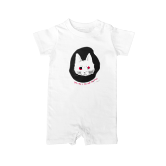 mya-mya=MIYA JUNKO's shop 02のodd-eyed cat Baby rompers
