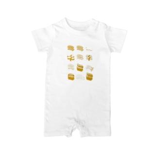 お寿司クン(一覧)黄色 Baby rompers