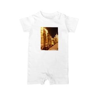 タイの黄金パゴダ Baby Rompers
