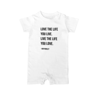 Hello BoB Marley `LOVE LIFE!!` Baby rompers