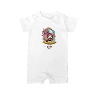 童話『赤ずきんちゃん』ロンパース オリジナルデザイン Baby rompers