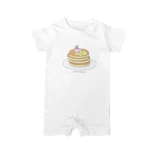 パンケーキもすきなの Baby rompers
