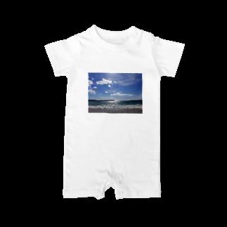 min☺︎︎のlove…sea Baby rompers