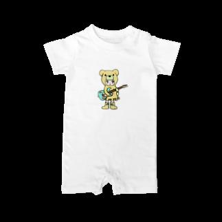 Suzuki Satomi イラストショップのベアミちゃん Baby rompers