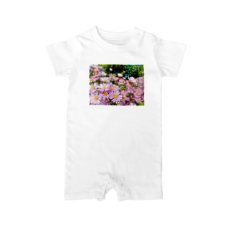 Pink flowers  Baby rompers