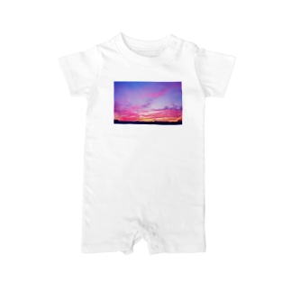 Pink Sunset sky Baby rompers