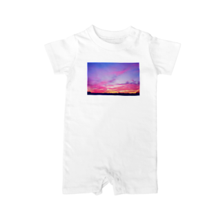 DOLUXCHIC RAYLOのPink Sunset sky Baby rompers