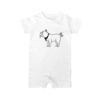 Aliviostaのフレンチブルドッグ しっぽをふる 動物イラスト Baby rompers