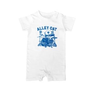 ALLEY CAT 〜ドラ猫モータース ドラムス/パン〜 Baby rompers