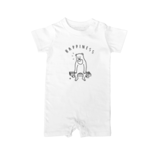 AliviostaのHappiness クマ 熊 動物イラスト Baby rompers