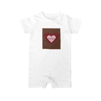 tominのheartbeat Baby rompers