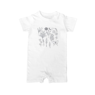 Monochrome Botanical Baby rompers