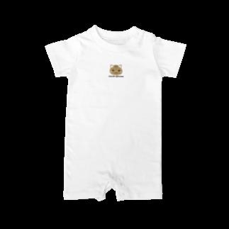 株式会社猫 (Aloha Mac Creation)のオリジナルニャンコ(majio店長顔だけVer) Baby rompers