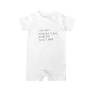 言葉。 Baby rompers