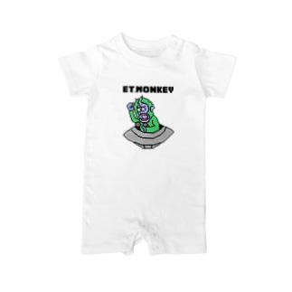 ET・MONKEY🐵のドットベビー Baby rompers