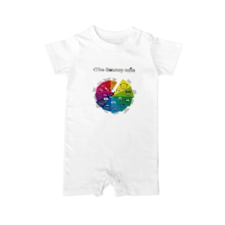 The Bouncy note (spiral A) Baby rompers