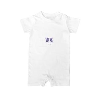 2年越し和解コラボ(サイズやらかしたVer.) Baby rompers