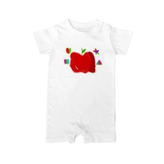 りんご Baby rompers