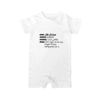 L'dim fashion 【エルディムファッション】ストリートスタイルのmy name is L'dim fashion. black colour Baby rompers