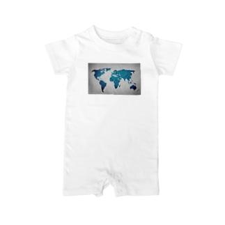 氷と水の世界地図 Baby rompers