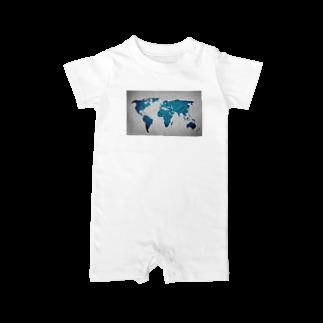 Sakura-yuanの氷と水の世界地図 Baby rompers