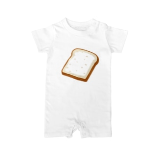 主食はパンです Baby rompers